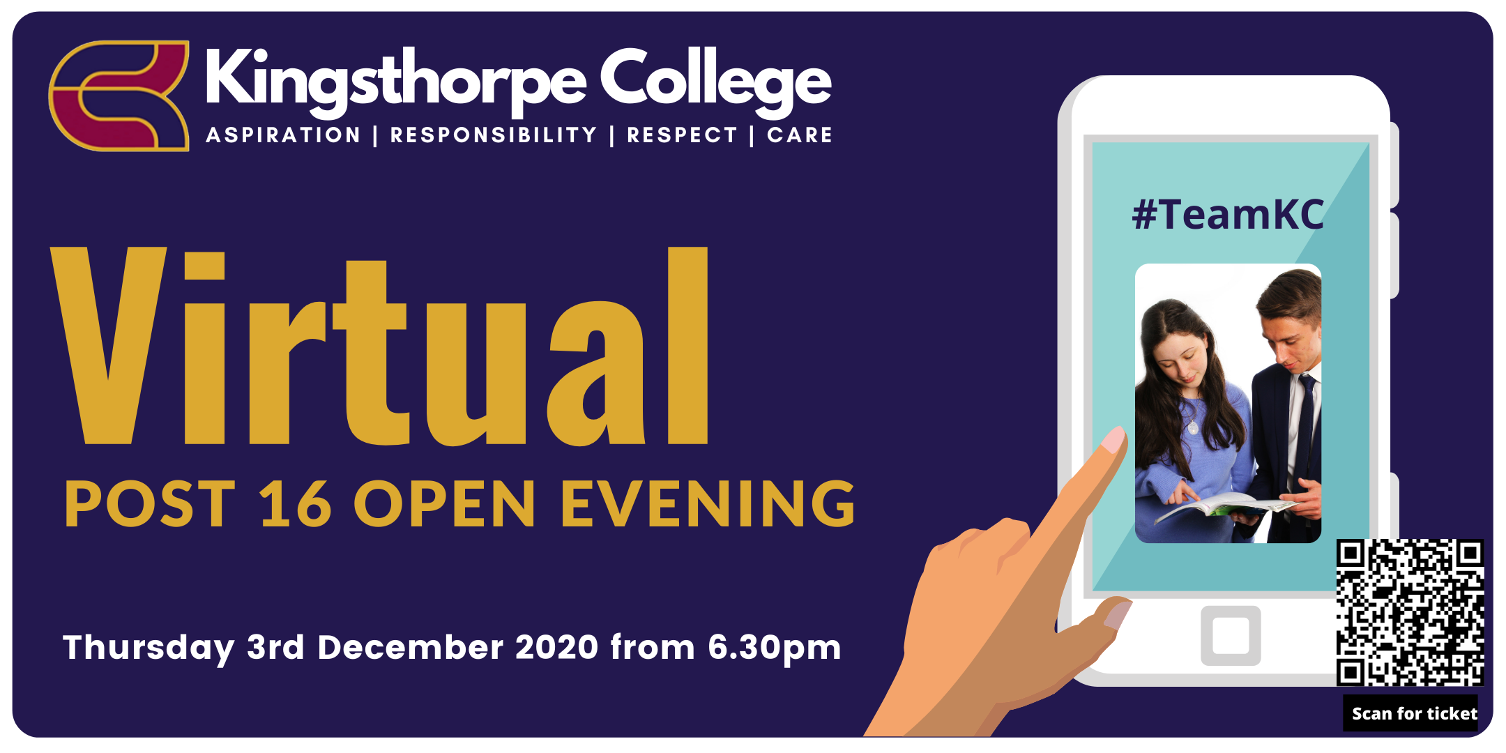 image for eventbrite post16 Virtual Open Evening.png